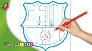 FC Barcelona Logo From FIFA Logos Drawing Tutorial