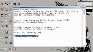 How To Add Cheats To Singleplayer Modern Warfare 2 For PC