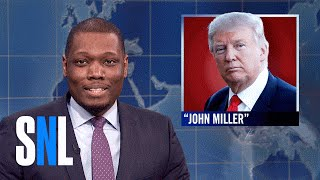 Weekend Update: Donald Trump Posing As His Own Publicist