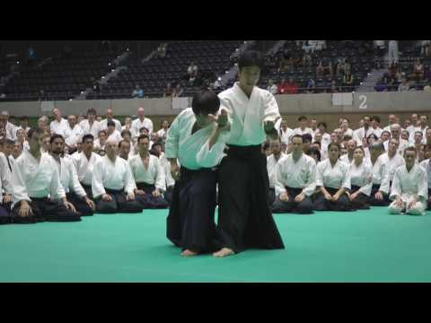 Aikido Class: Mitsuteru Ueshiba Hombu Dojo-cho - 12th IAF Congress in Takasaki