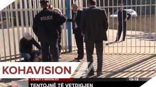 Pamje shokuese ku dy persona tentojnë të vetëdigjen në Prishtinë (Video)