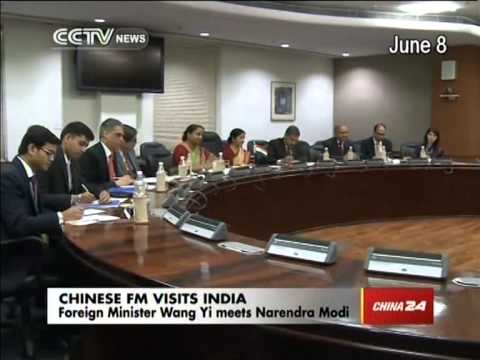 Foreign Minister Wang Yi meets Indian Prime Minister Narendra Modi