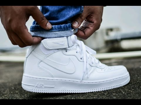 Nike Air Force 1 Low White On Feet