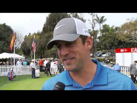 Green Bay Packers QB Aaron Rodgers at the Kia Classic