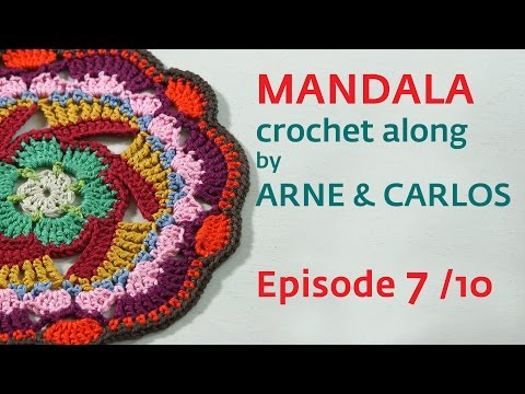 How to Crochet a Mandala. Part 7 by ARNE & CARLOS