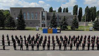 У ХНУВС Валерій Сокуренко провів інструктаж з особовим складом полку поліції особливого призначення