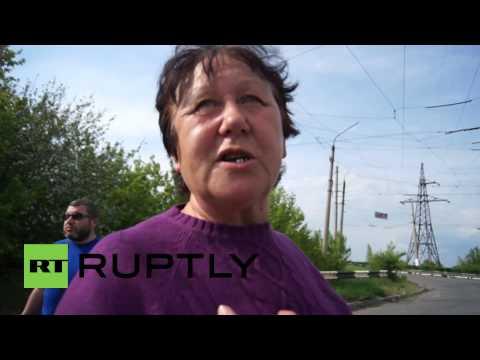 Ukraine: Slavyansk local says Ukrainian army has