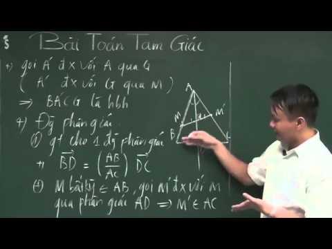 Hình học phẳng   Phương pháp độc đáo giải bài toán tam giác P1 Luyện thi đại học môn toán