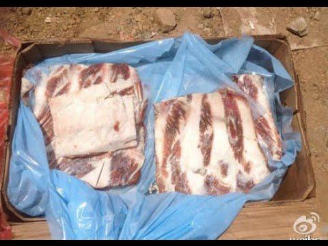 Cảnh Trung Quốc Tiêu Hủy Hàng Trăm Tấn Thịt Đông Lạnh 40 Năm