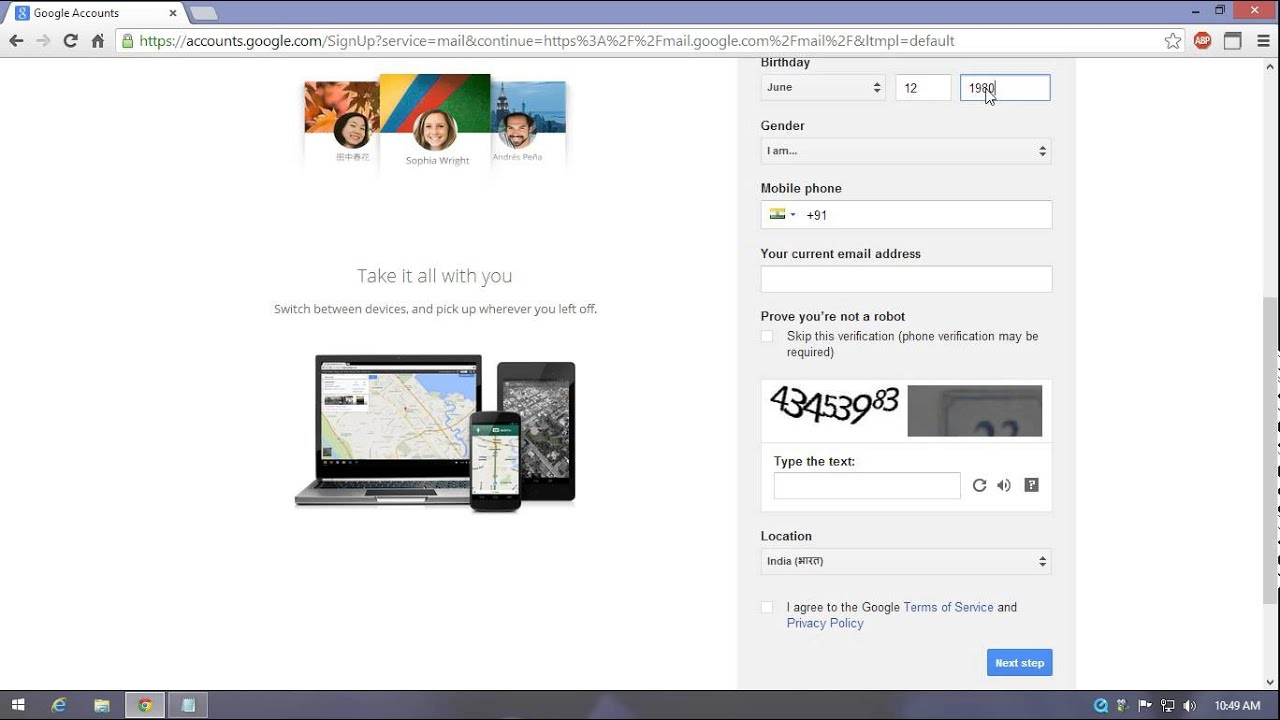 create a youtube account without gmail
