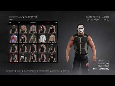 WWE 2K17 Sting WCW attire 2001