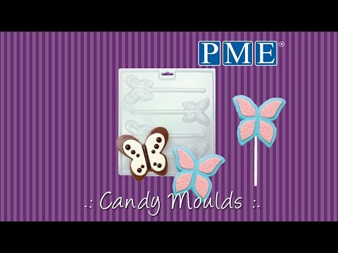 PME BUTTERFLIES chocolate & candy lolly mould set - 4 cavities