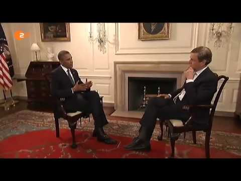 Interview Claus Kleber mit Barack Obama im ZDF  heute journal am 18  Januar 2014