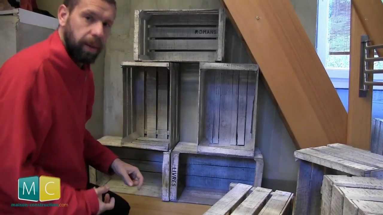 Biblioth que avec des caisses de pommes partie 2 2 apple crate bookshelf youtube - Caisse apple ...