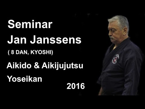 Demonstration 19: sensei Jan Janssens 8 DAN, KYOSHI aikido aikijujutsu yoseikan