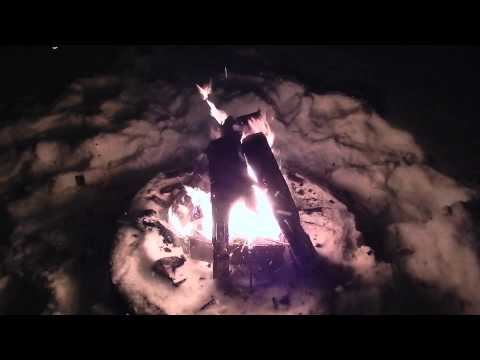 Blizzard Camping 2014 Heavy snow And Winds 1080p HD