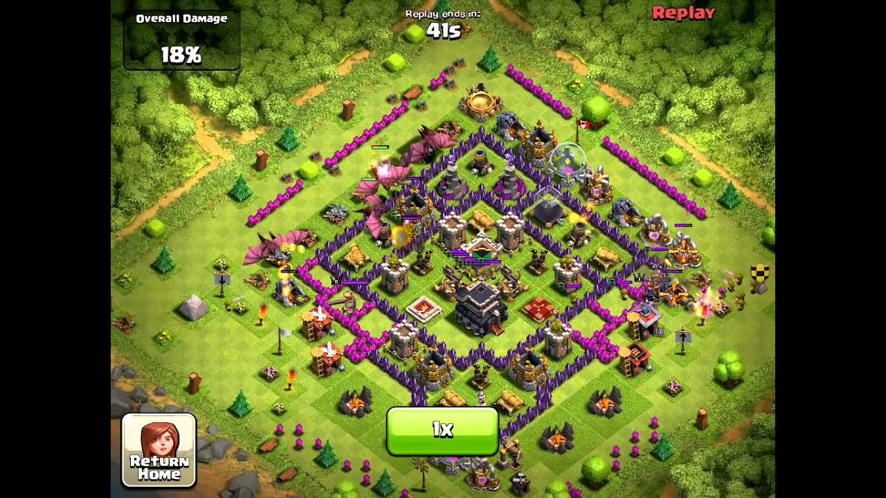 Clash of clans, DRAGONS chase KING like a pro - YouTube