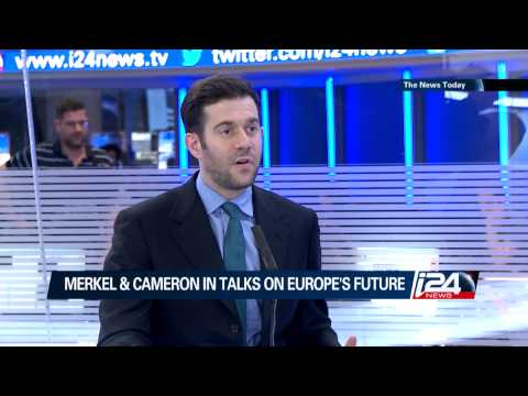 Jonathan Sacerdoti on i24news discussing opposition to Jean-Claude Juncker as EU President