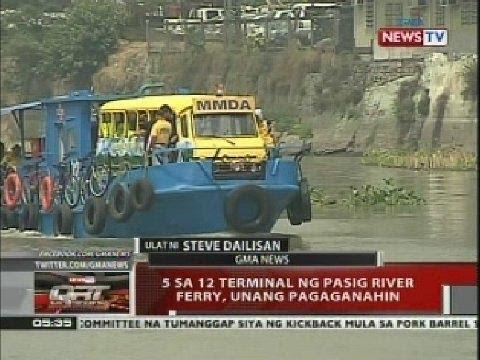QRT: 5 sa 12 terminal ng Pasig river ferry, unang pagaganahin