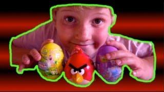 Angry Birds Spongebob Squarepants DISNEY Princess Toy Surprise Egg Unboxing