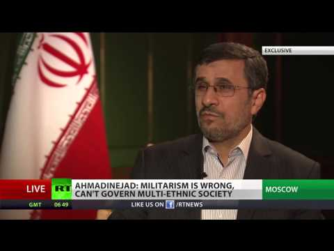 Irans outgoing president Mahmoud Ahmadinejad talks to RT Short version