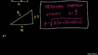 Heronova formula