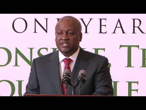 President John Mahama on the First Year of his First Term as President of the Republic of Ghana
