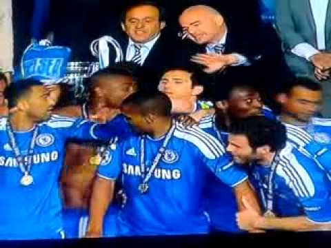 Chelsea Celebration Champions League Final 2012