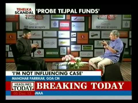 Manohar Parrikar talks bout the Tarun Tejpal and Tehelka