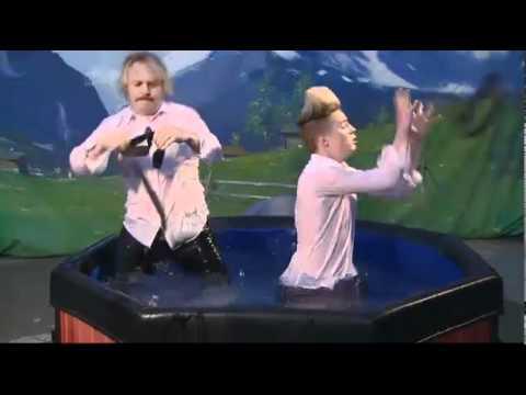 Jedward Celebrity Juice Swedish Hot Tub Dress Up Challenge 13/10/11