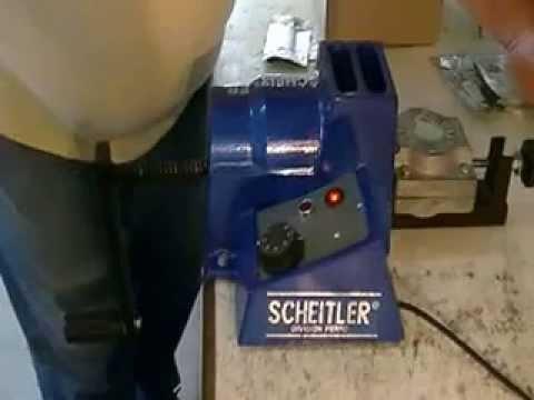 Video del funcionamiento de Inyectora Nylon Protesis Dental Flexible, Scheitler Aluminio