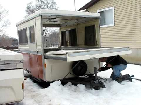 Apache Pop Up Camper Bed End Setup Youtube