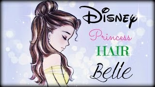 How To Draw And Color Disney Princesses Hair Belle