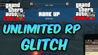 "GTA 5 Online ""UNLIMITED RP GLITCH"" How To Rank Up"