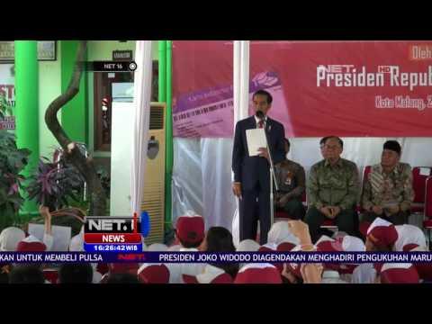 Presiden Bagikan 1000 Kartu Indonesia Pintar Kepada Pelajar di Kota Malang NET16