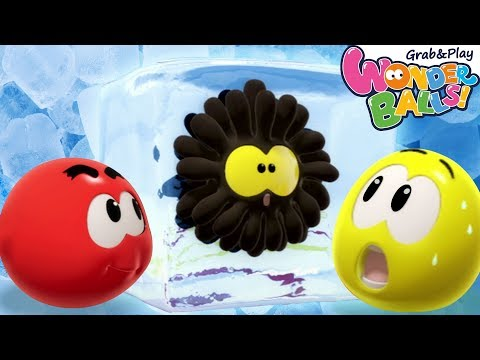 Come Play with the Frozen Paint Balls | Squishy Wonderballs | Funny Animated Cartoons