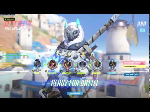 New Ana Snow Owl Skin Overwatch Gameplay