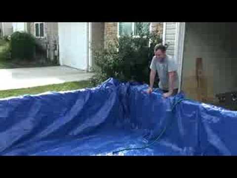 Homemade pool youtube for Homemade wading pool