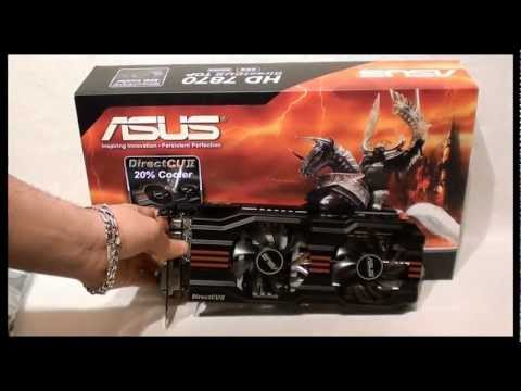 ASUS HD 7870 DirectCU II TOP unboxing &amp; preview