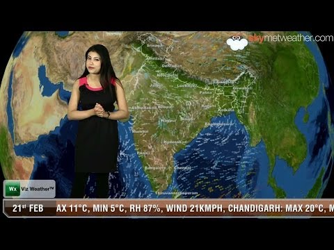 21/02/14 - Skymet Weather Report for India