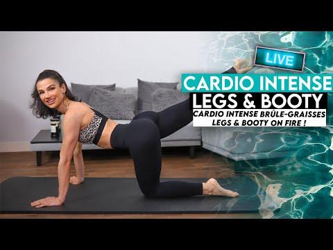 INTENSE CARDIO BRÛLE GRAISSES, BOOTY & LEGS 🍑🔥