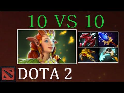 Dota 2 EPIC 10 vs 10 Gameplay Enchantress (+Rampage)