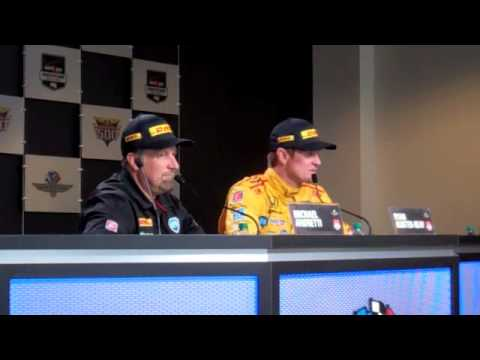 Ryan Hunter-Reay & Michael Andretti Press Conference 2014 Indianapolis 500