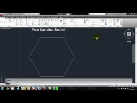 Mryakın Kampüs – AutoCAD Ders 3   (Polar Koordinat Sistemi Türkçe)