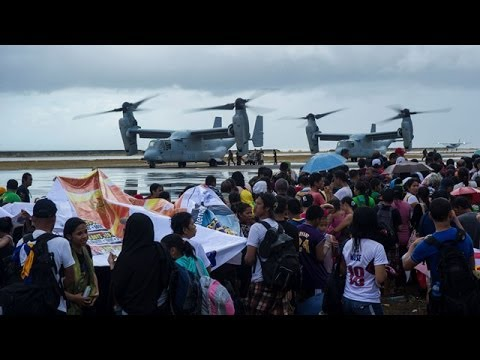 Typhoon Haiyan victims receiving aid, says US
