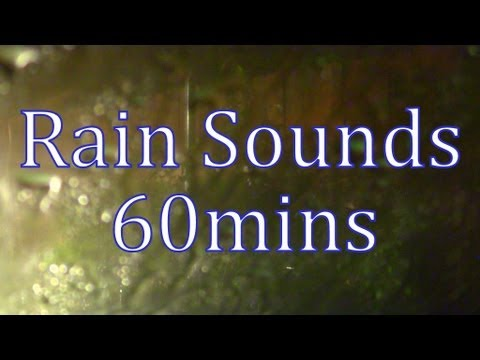 """Rain Sounds"" Rain on a Window 60mins ""Thunderstrom"""