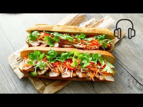 Banh Mi Vietnamese Sandwich #ASMR ベトナム風サンドイッチ バインミー