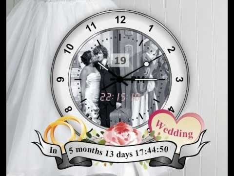 [Image: create your Wedding Day desktop clock App - Venice Design, App uses high fidelity vector graphics]