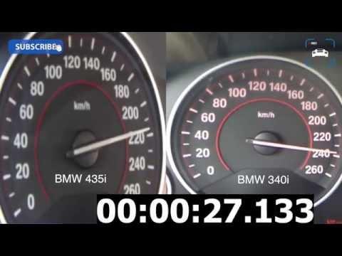 BMW 340i vs 435i Acceleration Comparison Autobahn Beschleunigung
