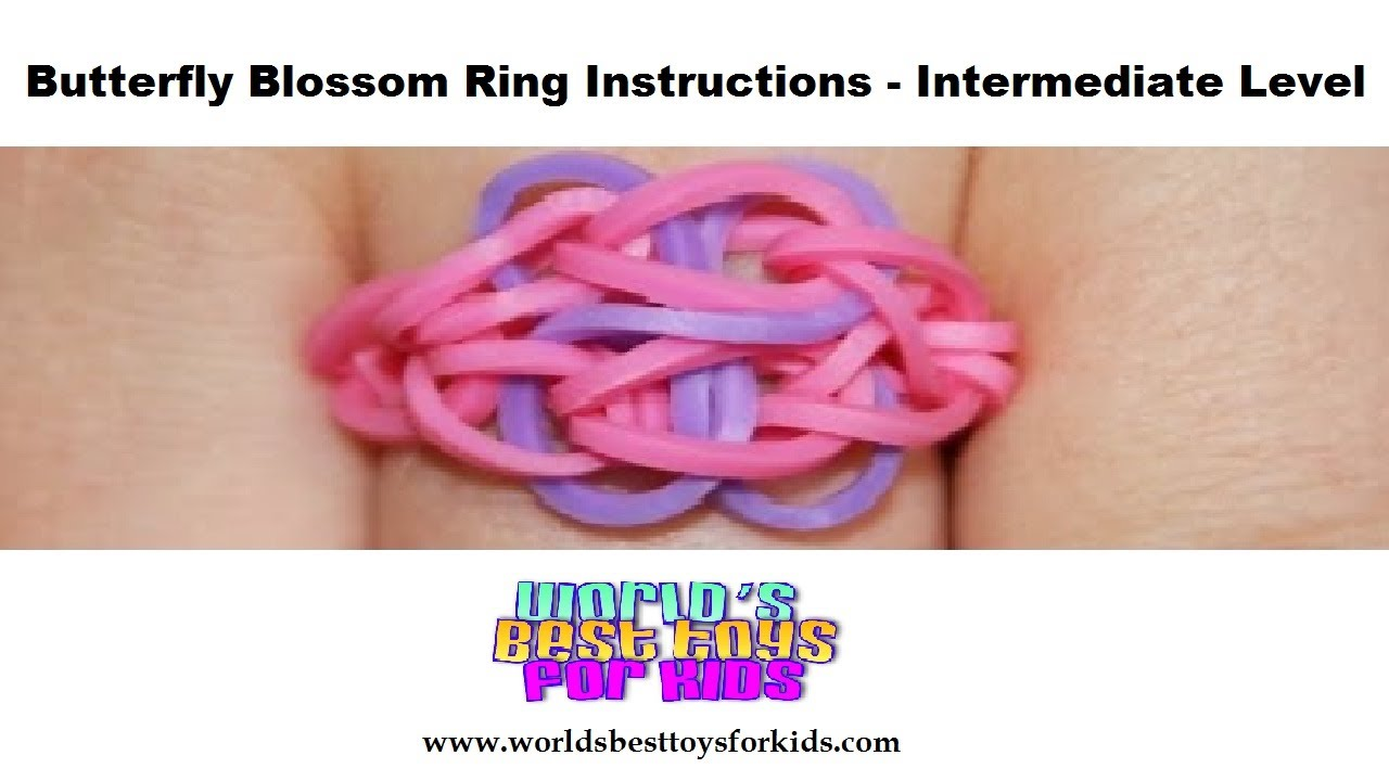 rainbow loom rubber band refill butterfly blossom ring